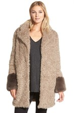 Shelli Segal Faux Fur Coat